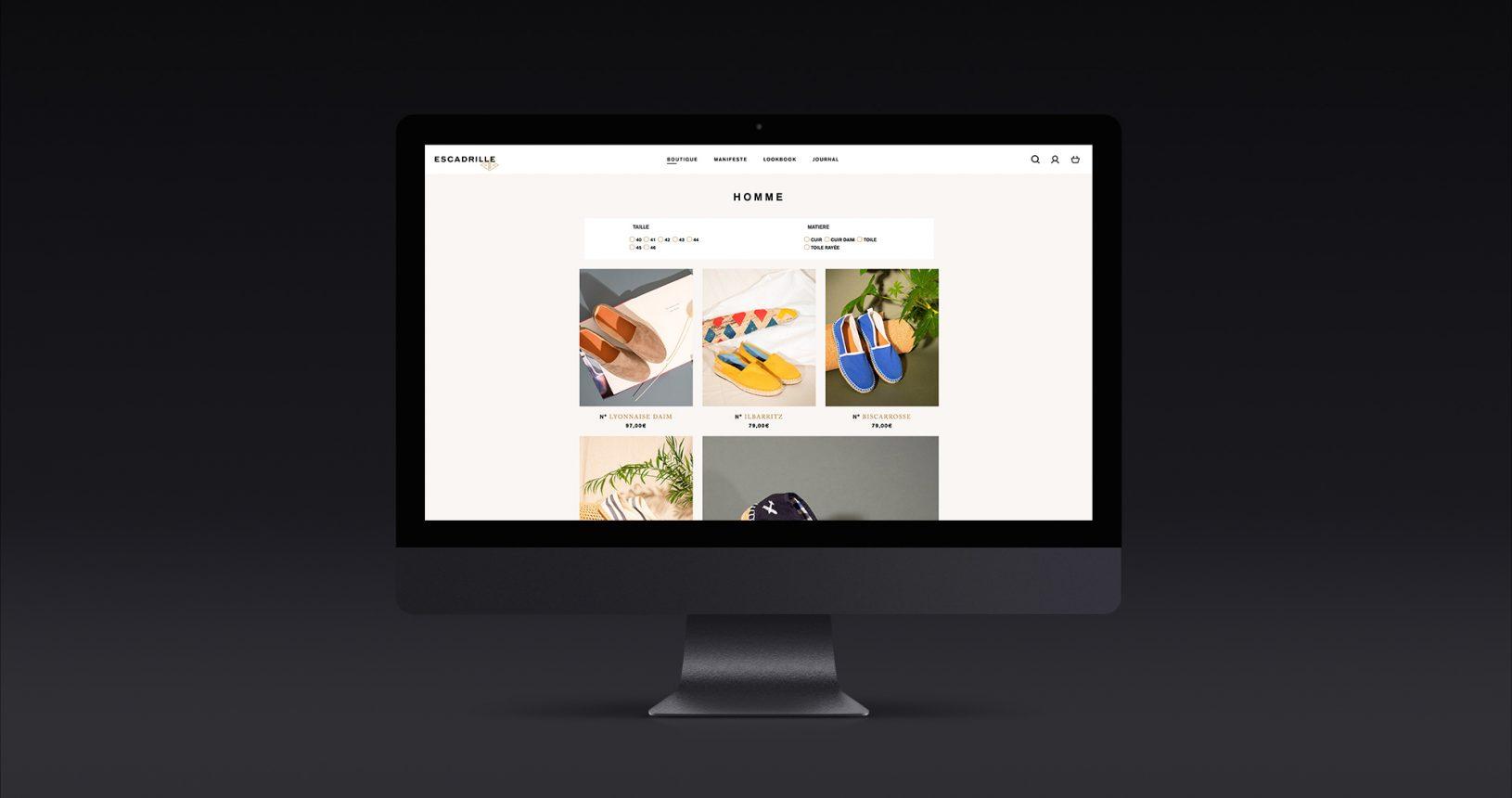 Site e-commerce Escadrille