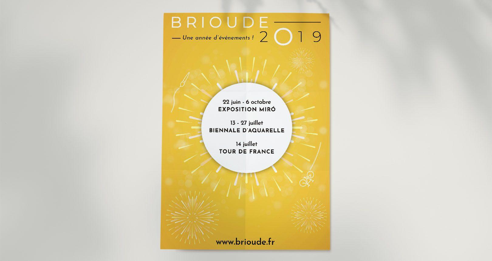 Affiche ville de Brioude 2019