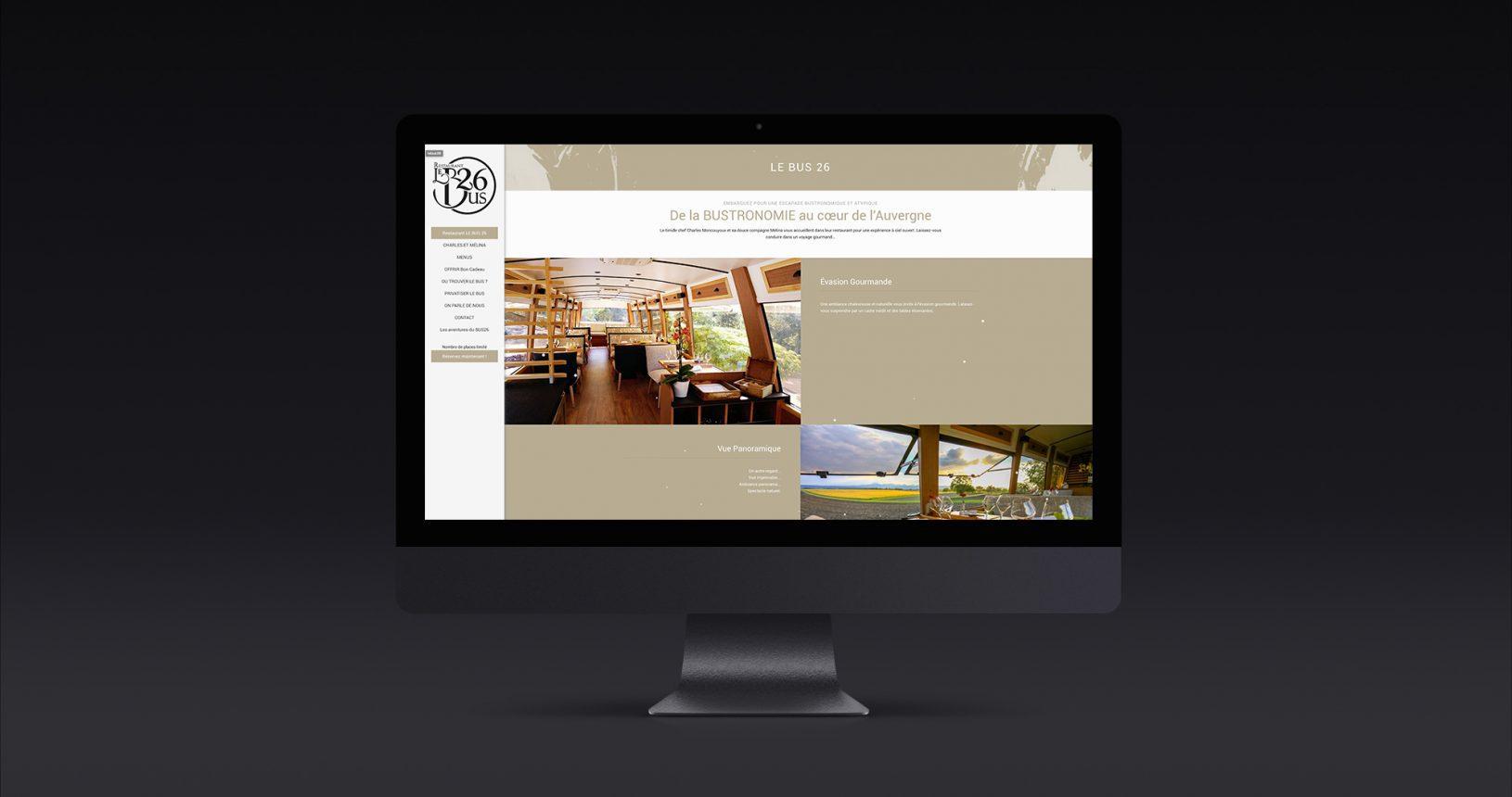 Site internet du restaurant Le Bus 26
