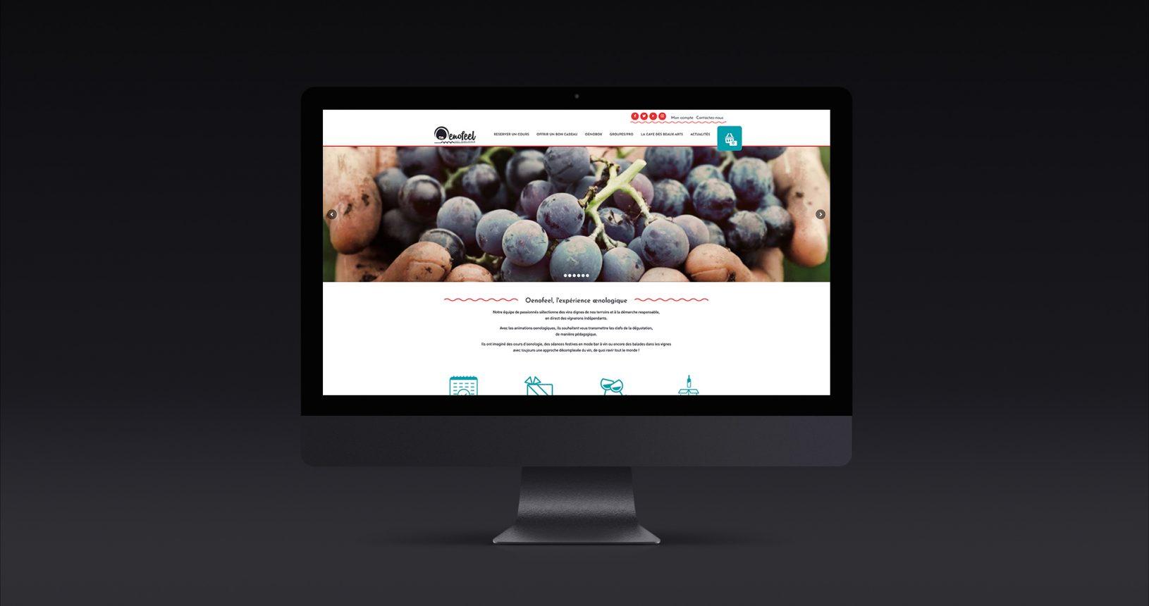 Site web e-commerce Oenofeel