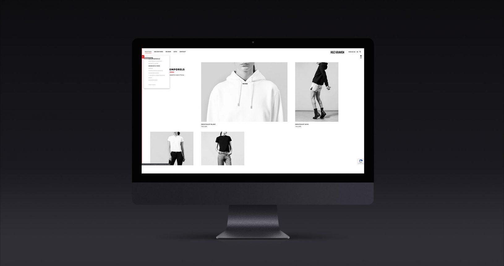 Site e-commerce Roz Kraven