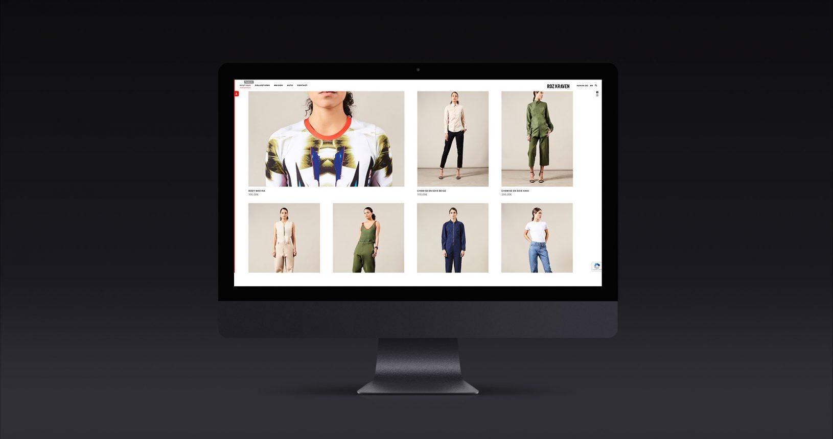 Site internet Roz Kraven