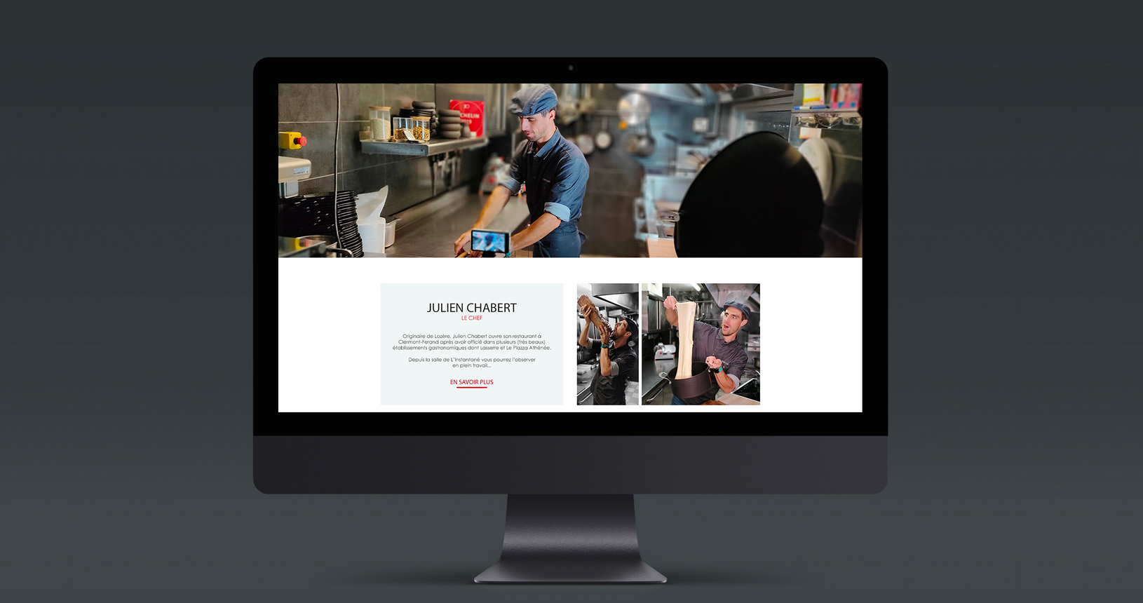 Site internet de L'instantané, restaurant à clermont-ferrand